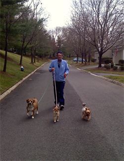 jeff and his dogs